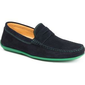 Austin Heller Suede Chathams Navy/Green Loafers